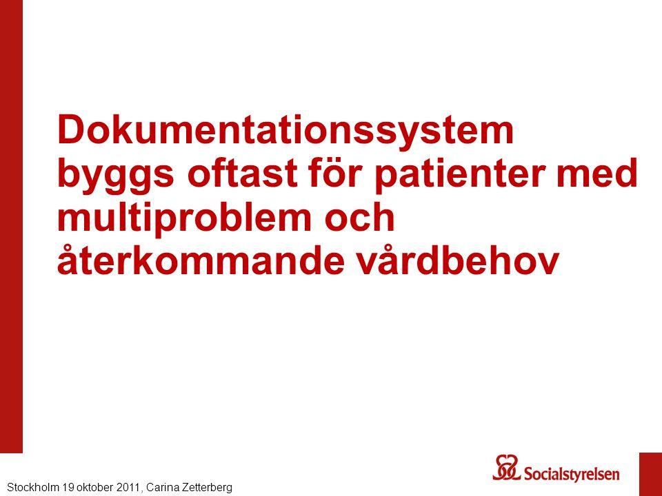 Dokumentationssystem byggs oftast för patienter med multiproblem och återkommande vårdbehov