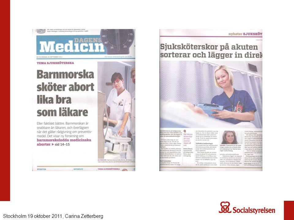 Stockholm 19 oktober 2011, Carina Zetterberg