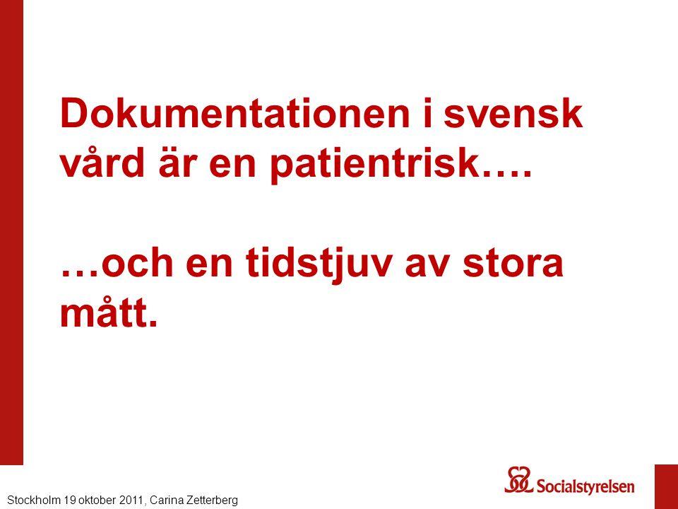 Dokumentationen i svensk vård är en patientrisk…