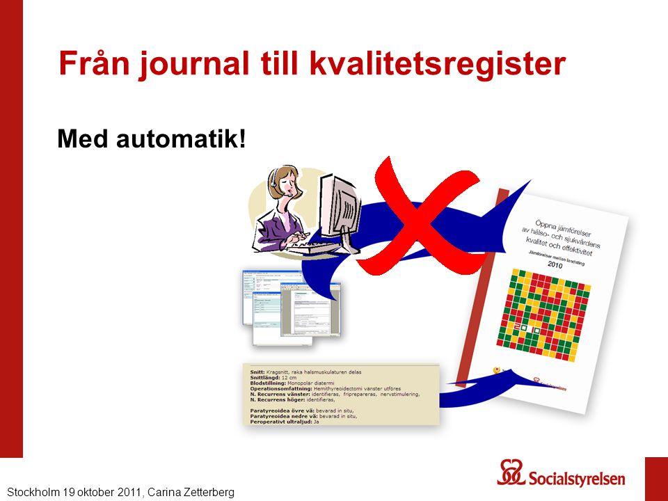 Från journal till kvalitetsregister