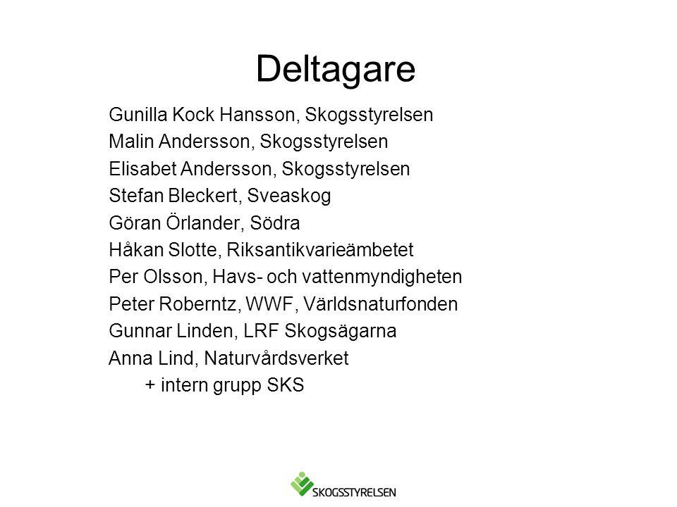 Deltagare Gunilla Kock Hansson, Skogsstyrelsen