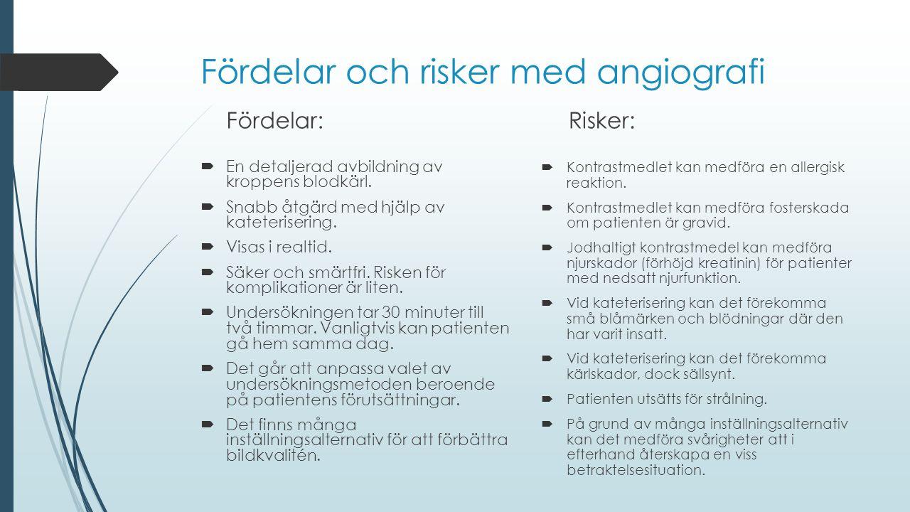 Fördelar och risker med angiografi