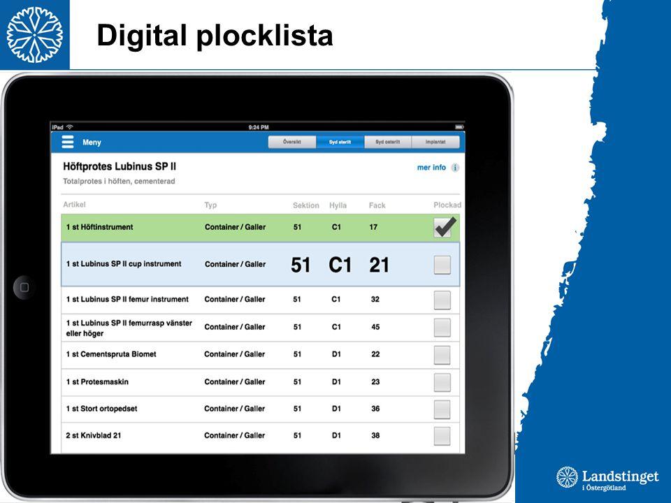 Digital plocklista