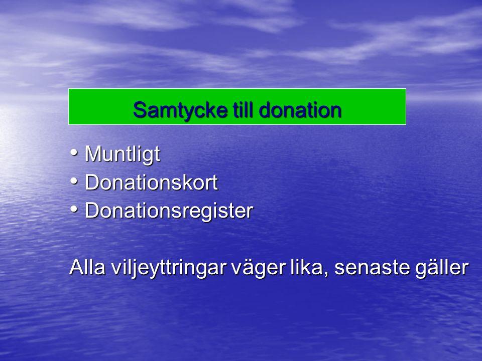 Samtycke till donation