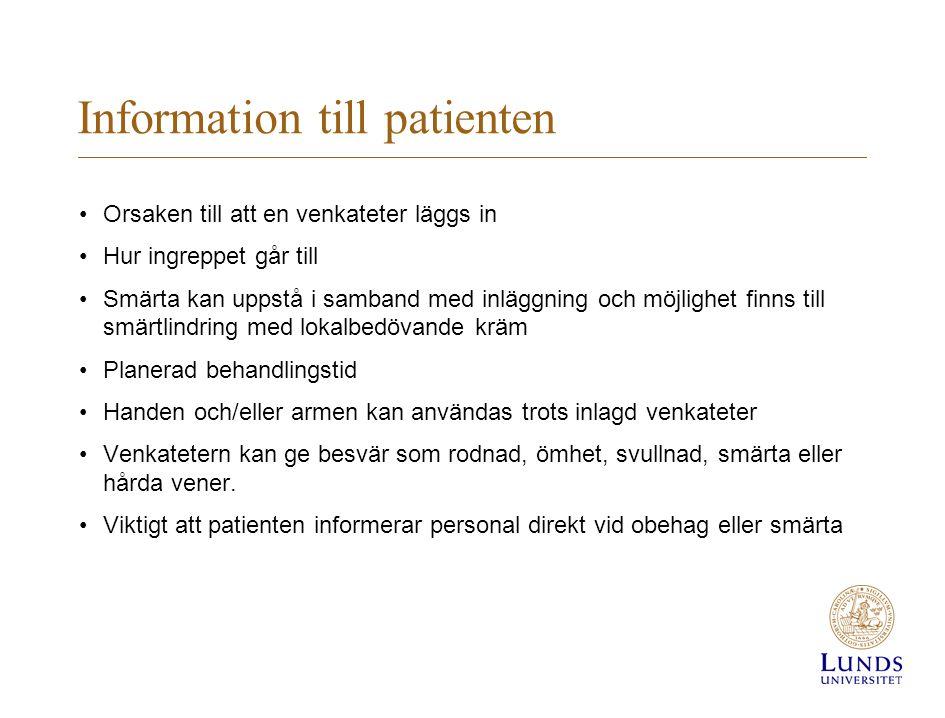 Information till patienten