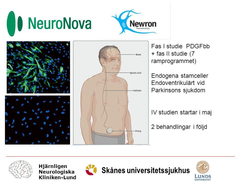 Fas I studie PDGFbb + fas II studie (7 ramprogrammet) Endogena stamceller. Endoventrikulärt vid.