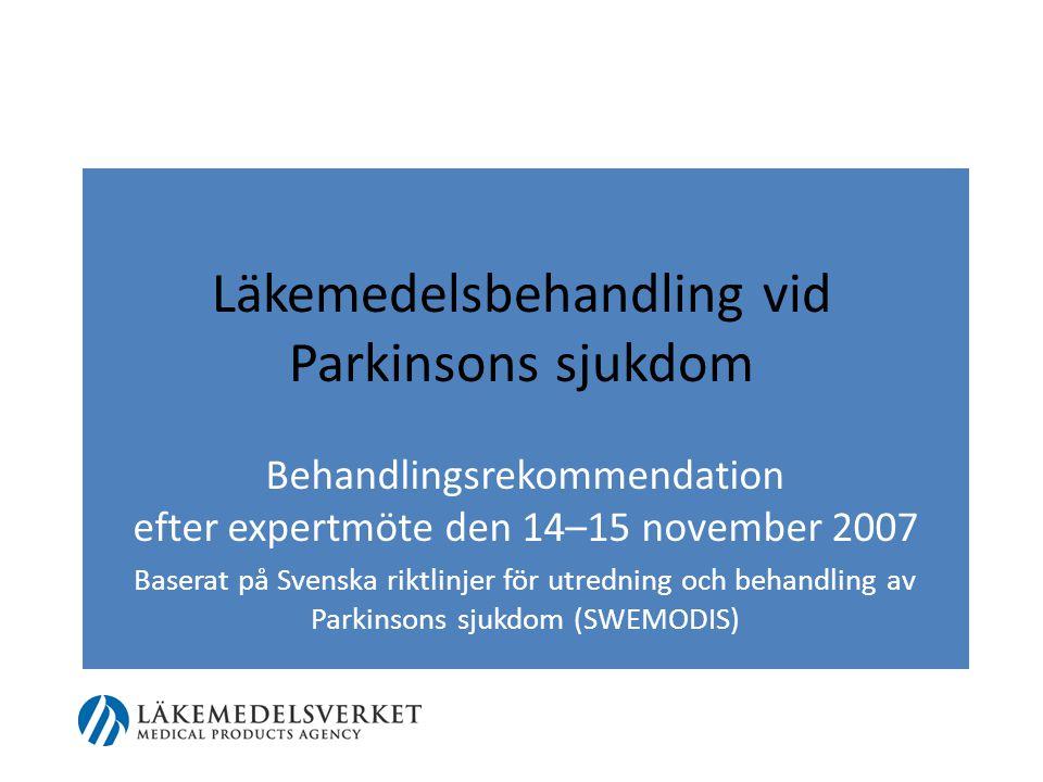 Läkemedelsbehandling vid Parkinsons sjukdom
