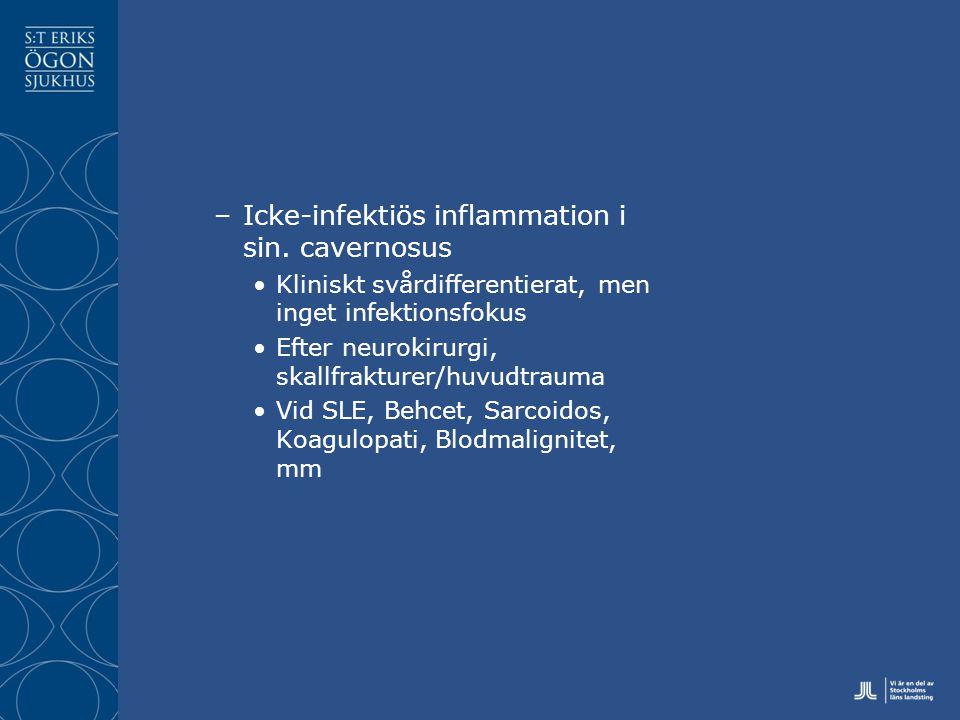 Icke-infektiös inflammation i sin. cavernosus
