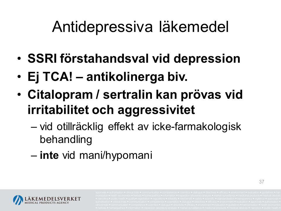 Antidepressiva läkemedel
