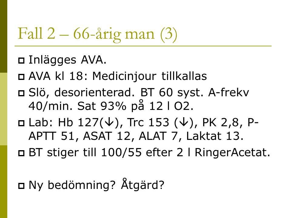 Fall 2 – 66-årig man (3) Inlägges AVA.