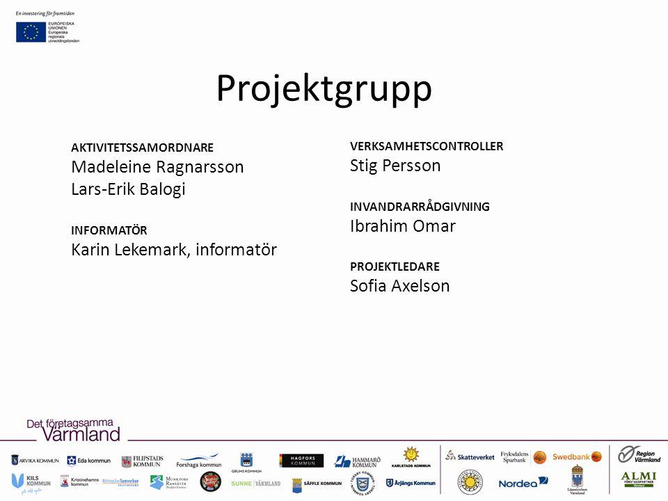 Projektgrupp Madeleine Ragnarsson Stig Persson Lars-Erik Balogi