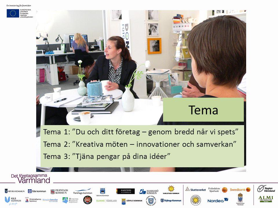 Tema Tema 1: Du och ditt företag – genom bredd når vi spets