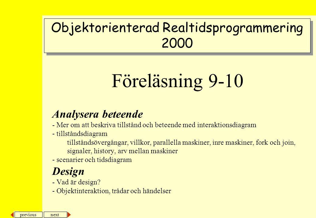 Objektorienterad Realtidsprogrammering