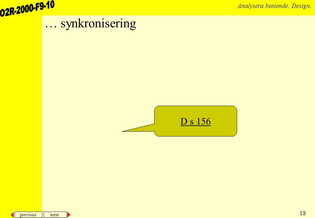 … synkronisering D s 156