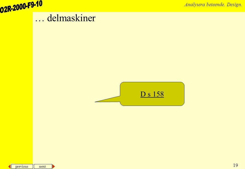 … delmaskiner D s 158
