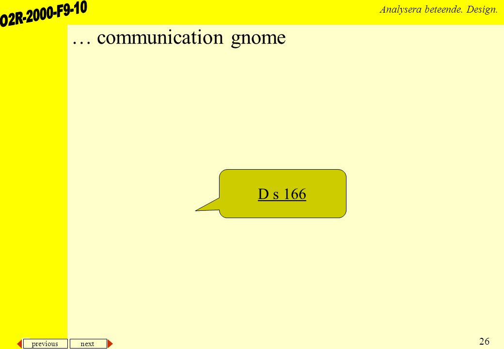 … communication gnome D s 166