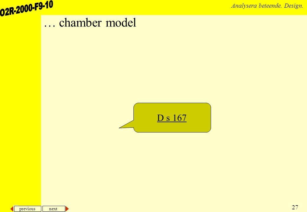 … chamber model D s 167