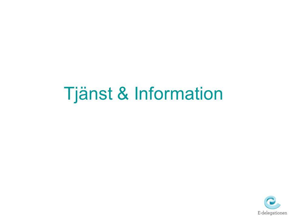 Tjänst & Information
