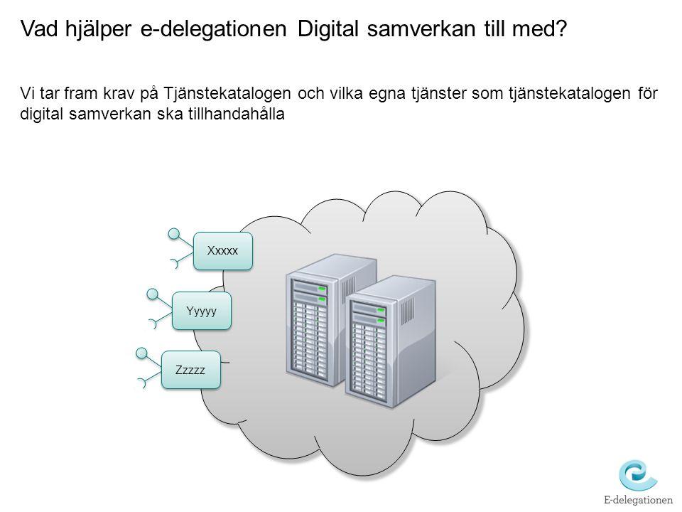 Vad hjälper e-delegationen Digital samverkan till med