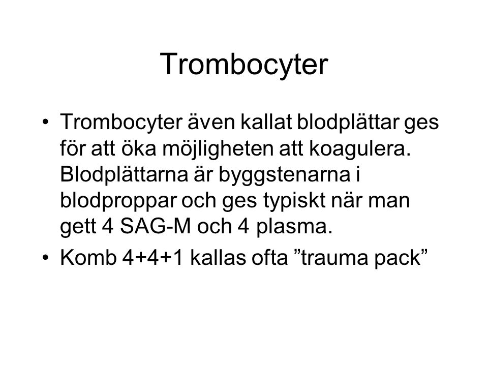 Trombocyter