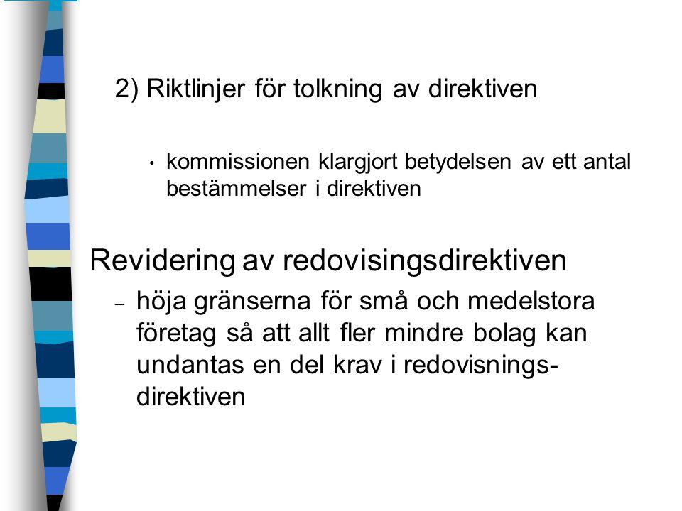 Revidering av redovisingsdirektiven