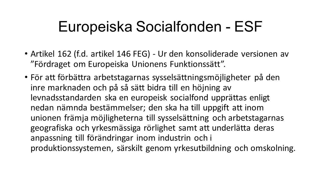 Europeiska Socialfonden - ESF
