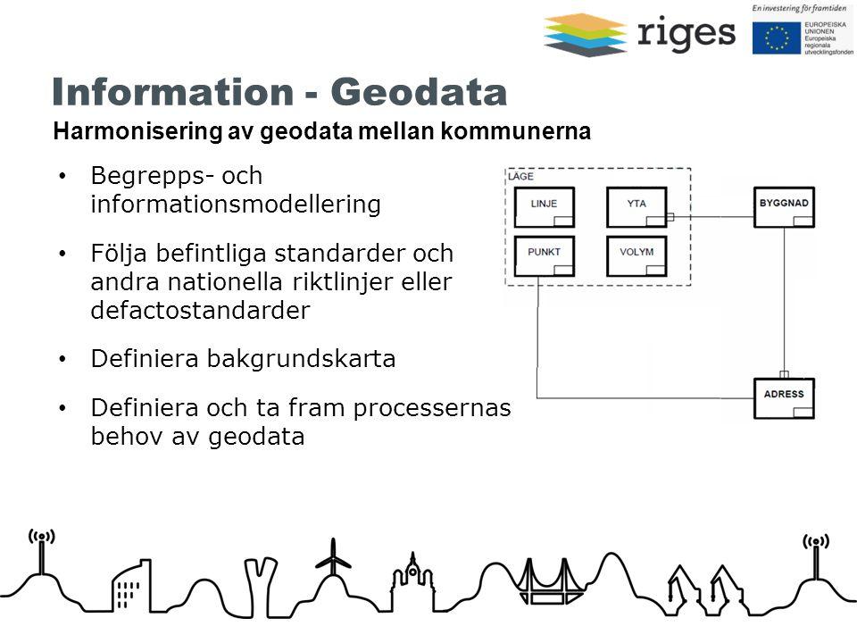 Information - Geodata Harmonisering av geodata mellan kommunerna