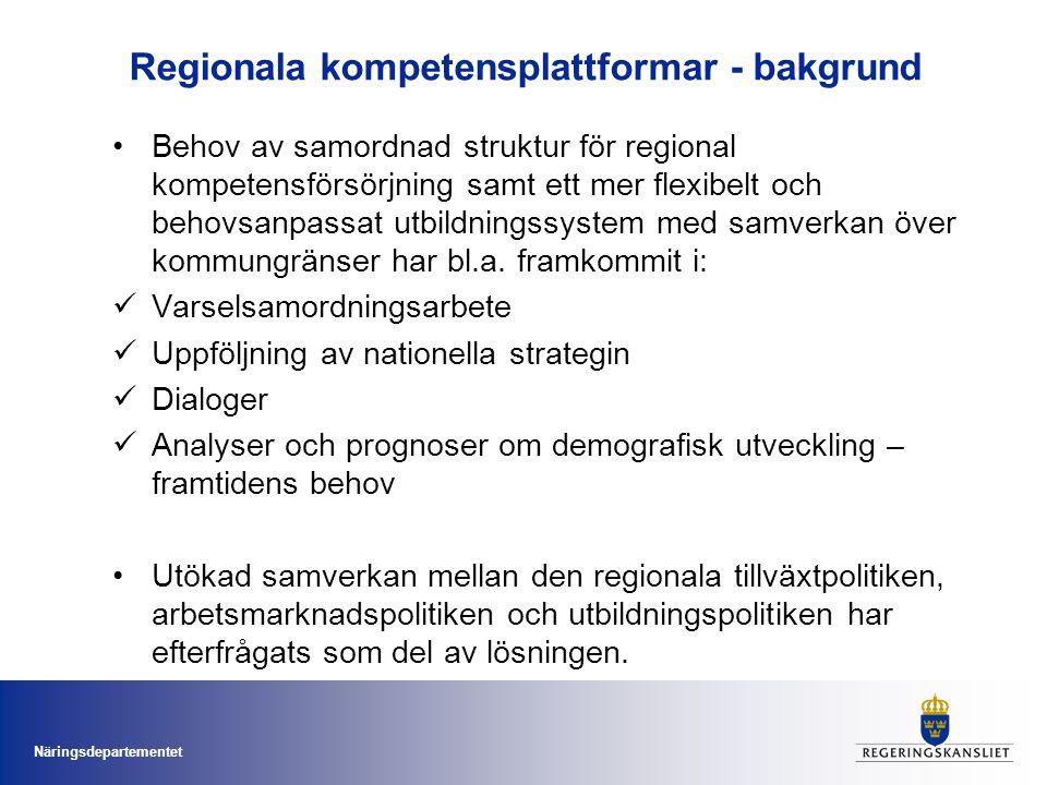 Regionala kompetensplattformar - bakgrund