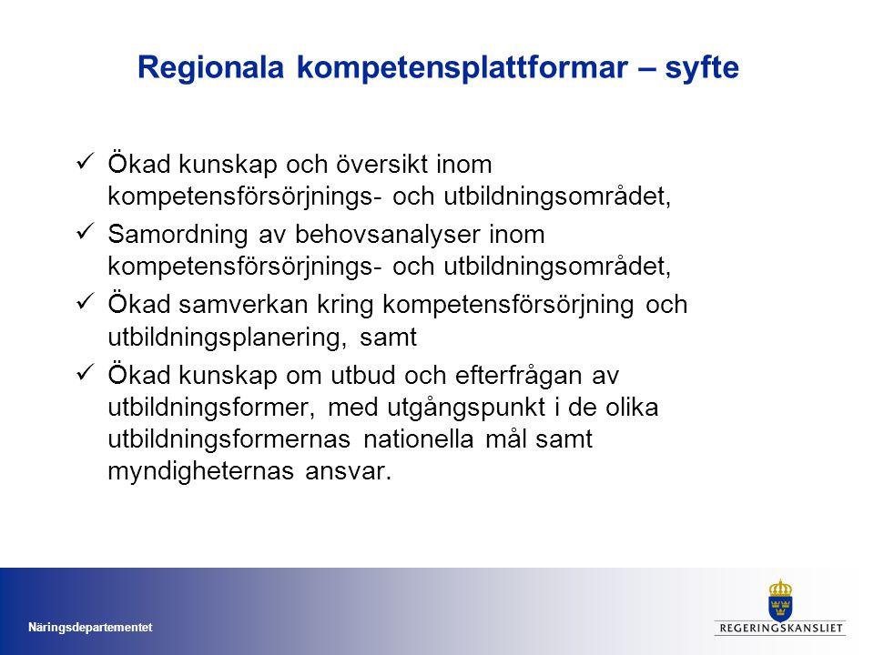 Regionala kompetensplattformar – syfte