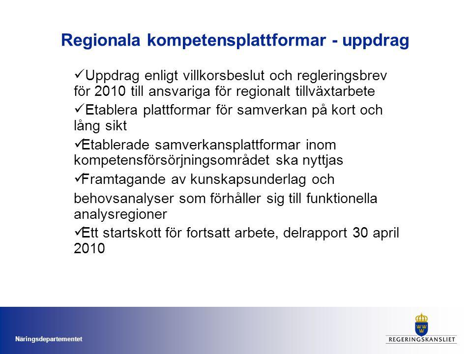 Regionala kompetensplattformar - uppdrag