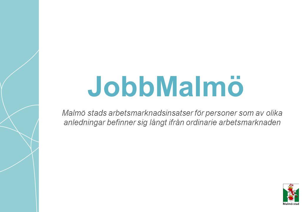 JobbMalmö Malmö stads arbetsmarknadsinsatser för personer som av olika
