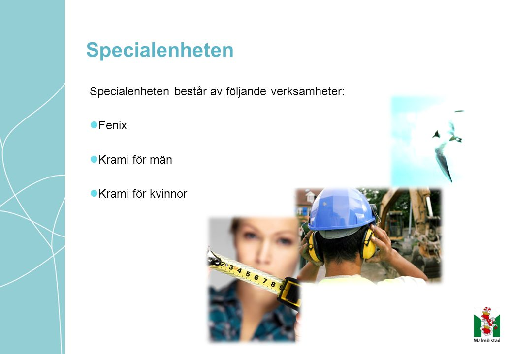 Specialenheten Specialenheten består av följande verksamheter: Fenix