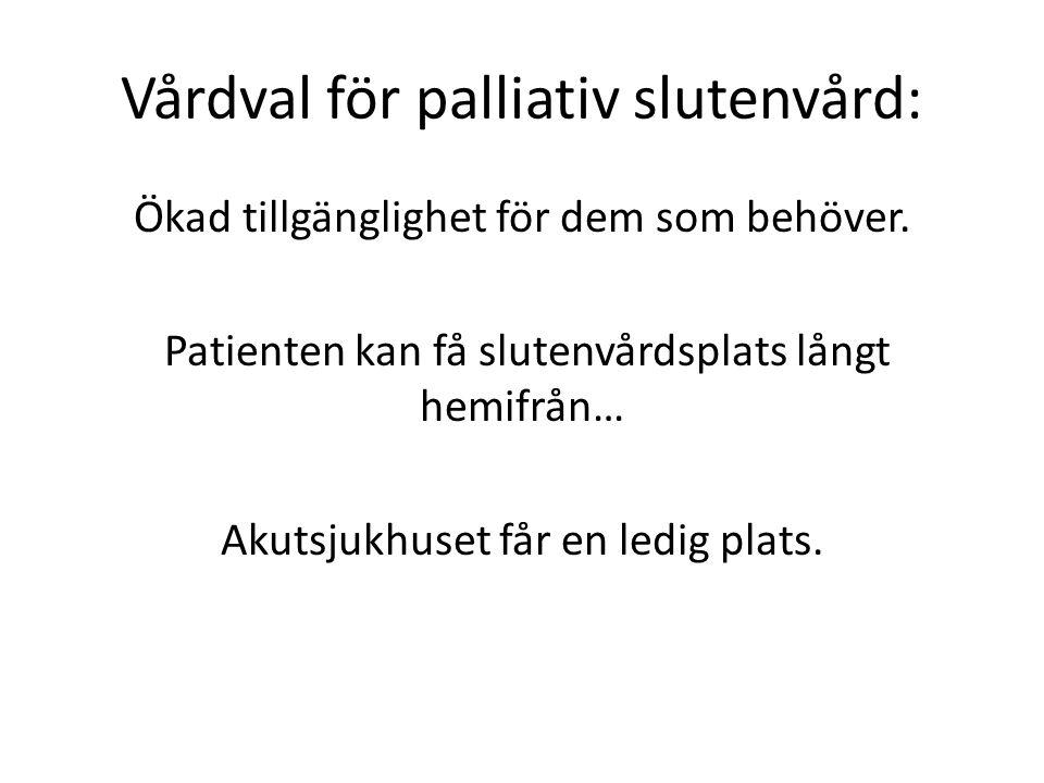 Vårdval för palliativ slutenvård: