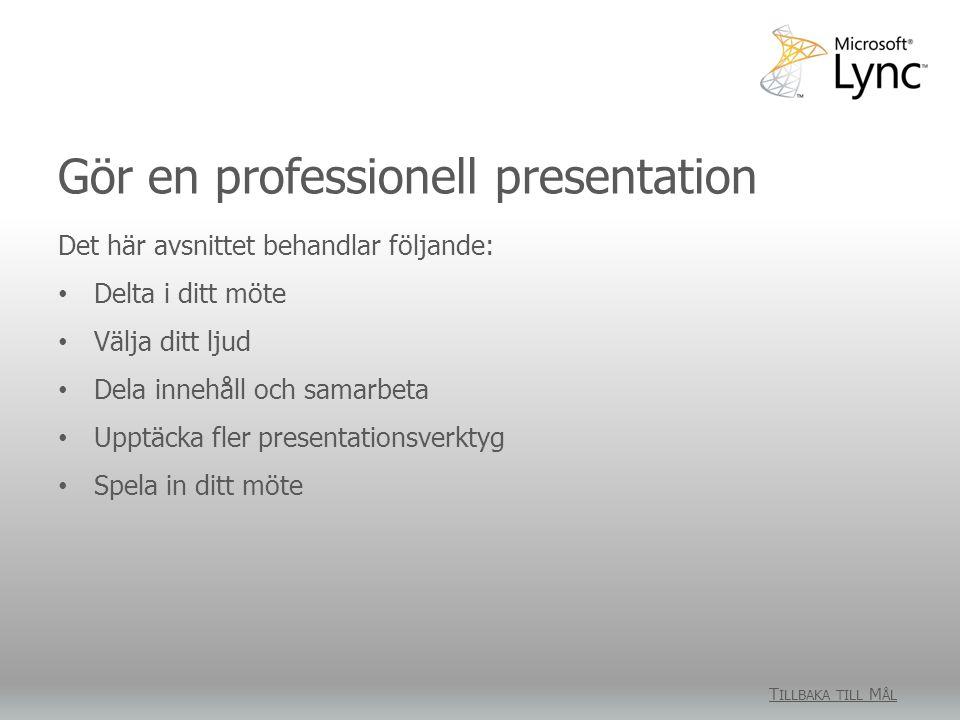 Gör en professionell presentation