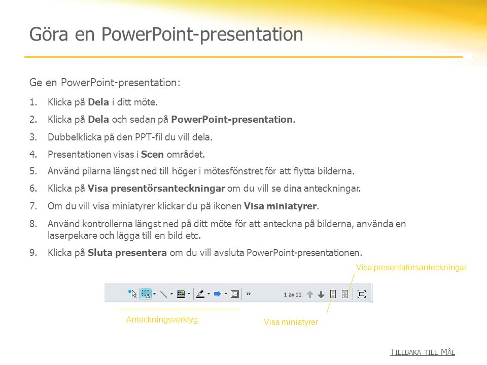 Göra en PowerPoint-presentation