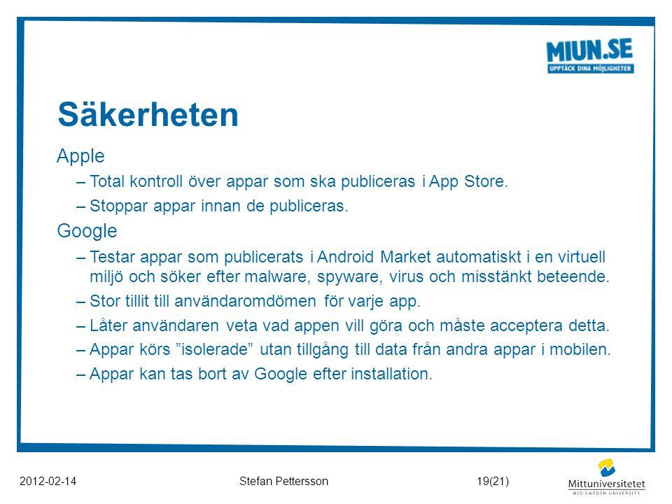 Säkerheten Apple Google