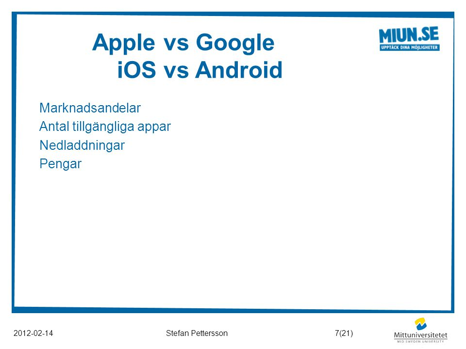 Apple vs Google iOS vs Android