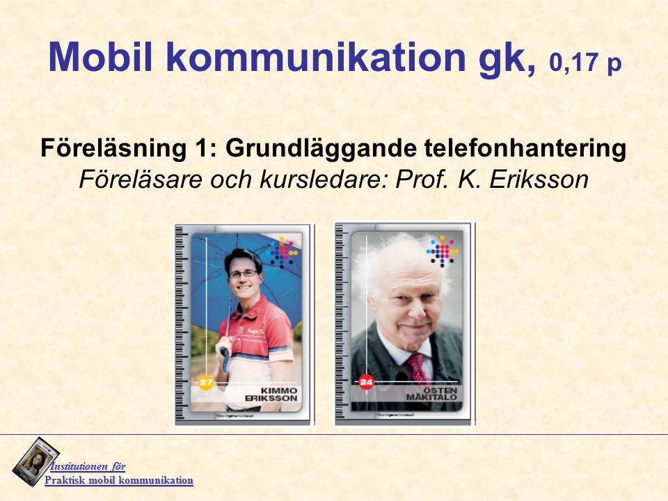 Mobil kommunikation gk, 0,17 p