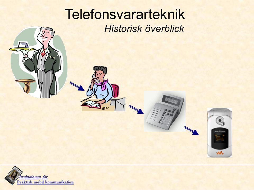 Telefonsvararteknik Historisk överblick