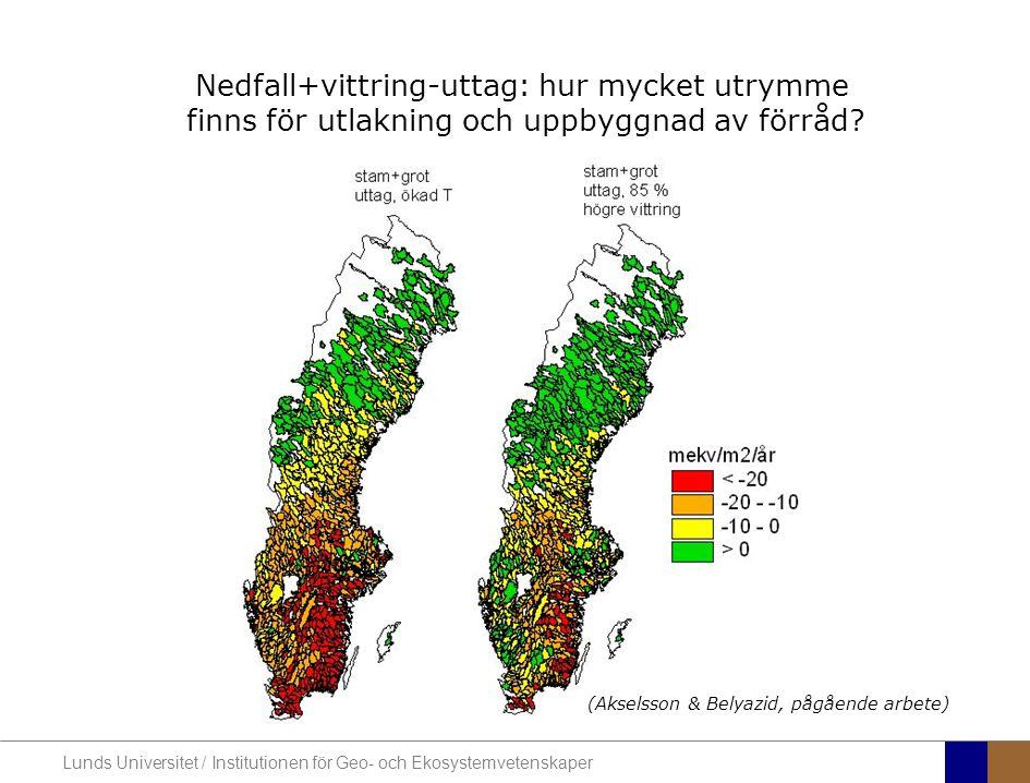 Nedfall+vittring-uttag: hur mycket utrymme finns för utlakning och uppbyggnad av förråd