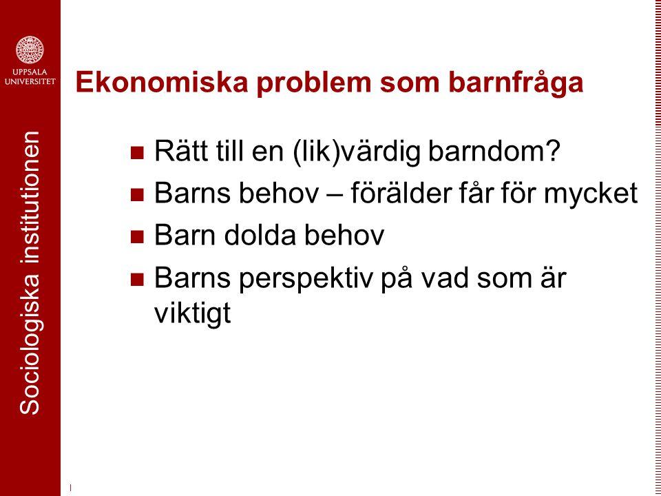 Ekonomiska problem som barnfråga