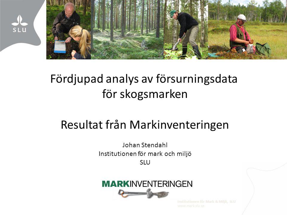 Fördjupad analys av försurningsdata för skogsmarken