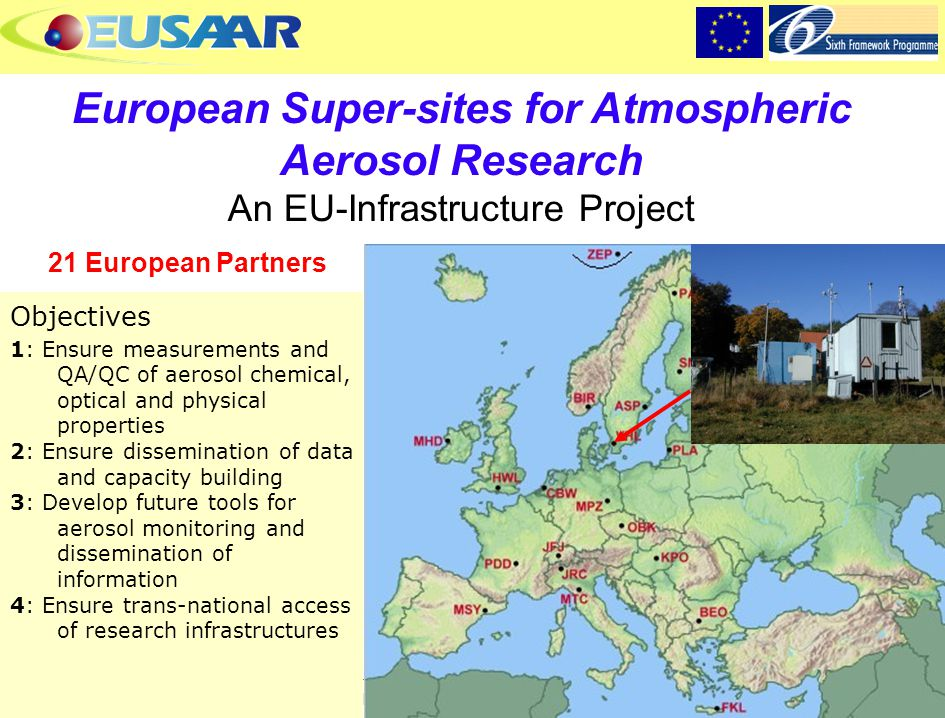 European Super-sites for Atmospheric Aerosol Research An EU-Infrastructure Project
