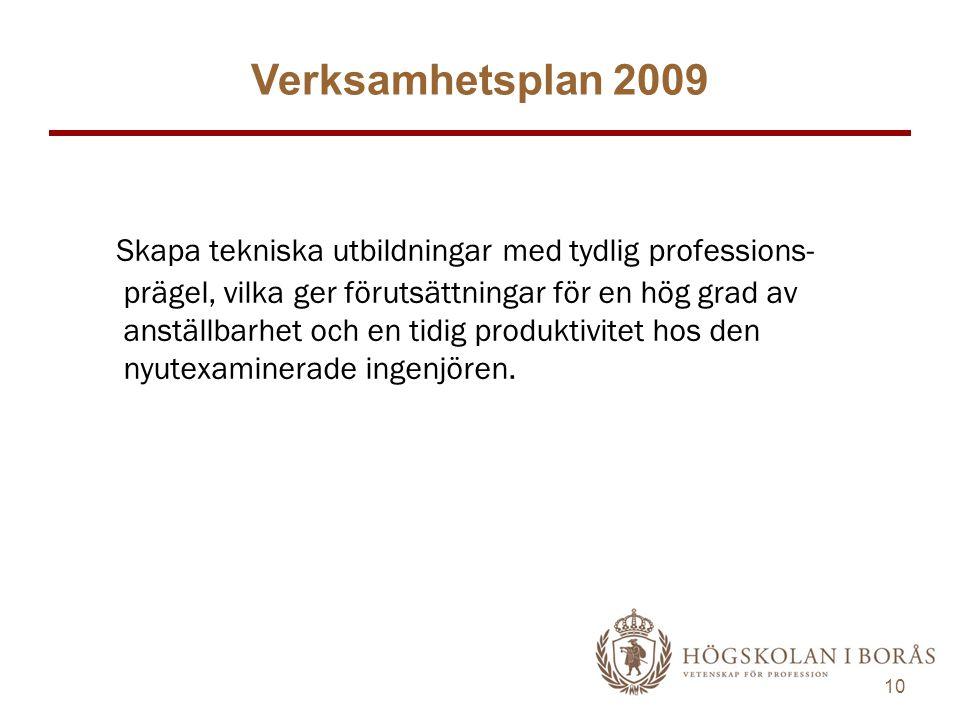 Verksamhetsplan 2009