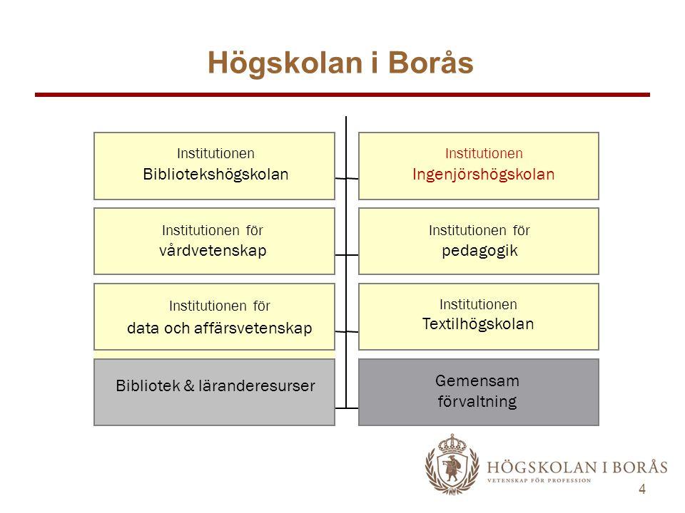 Högskolan i Borås pedagogik Gemensam förvaltning