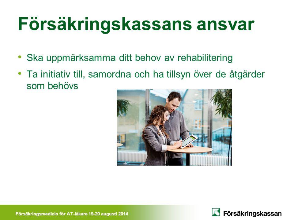 Försäkringskassans ansvar