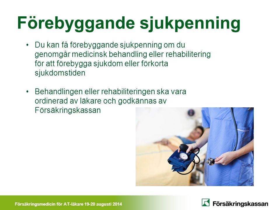 Förebyggande sjukpenning