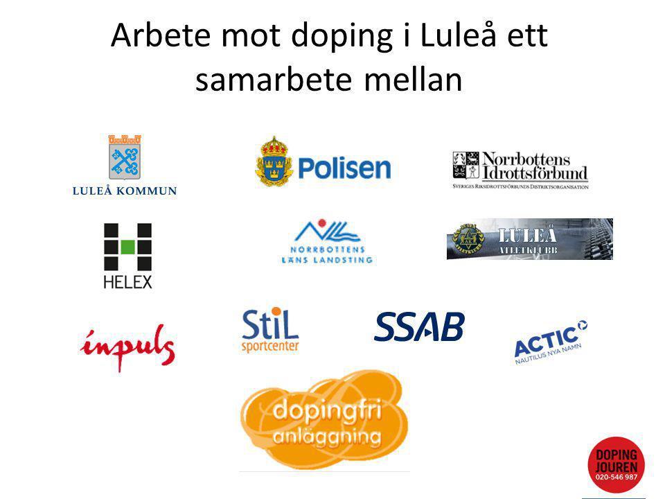 Arbete mot doping i Luleå ett samarbete mellan