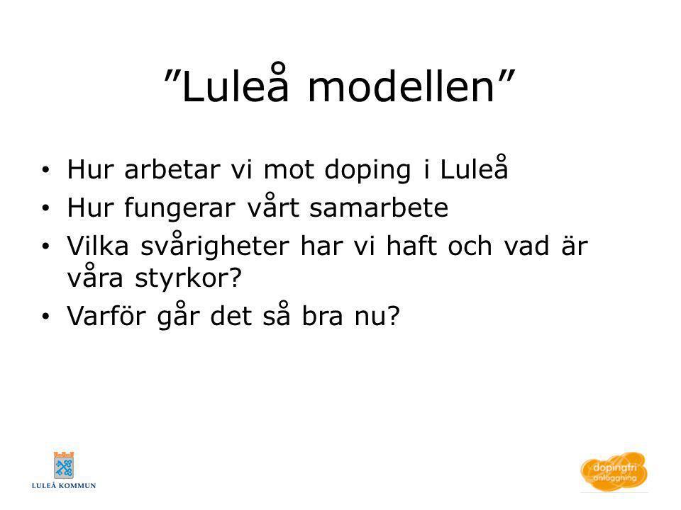 Luleå modellen Hur arbetar vi mot doping i Luleå