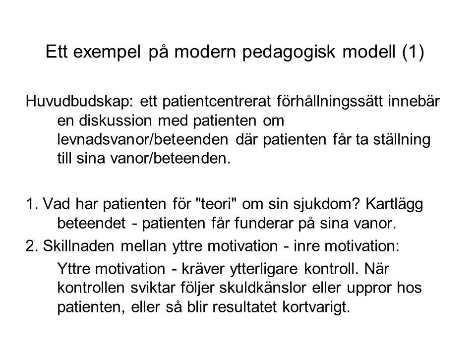 Ett exempel på modern pedagogisk modell (1)